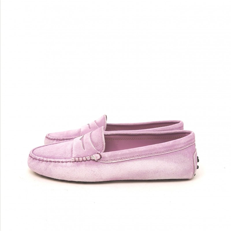 TOD'S - Suede Gommino Loafers - Light Iris