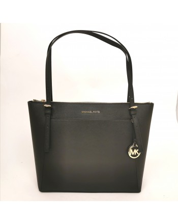 MICHAEL BY MICHAEL KORS - VOYAGER leather Shopping bag - Black