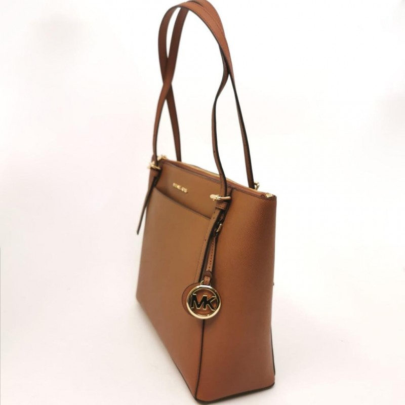 MICHAEL BY MICHAEL KORS - VOYAGER leather Shopping bag - Acorn