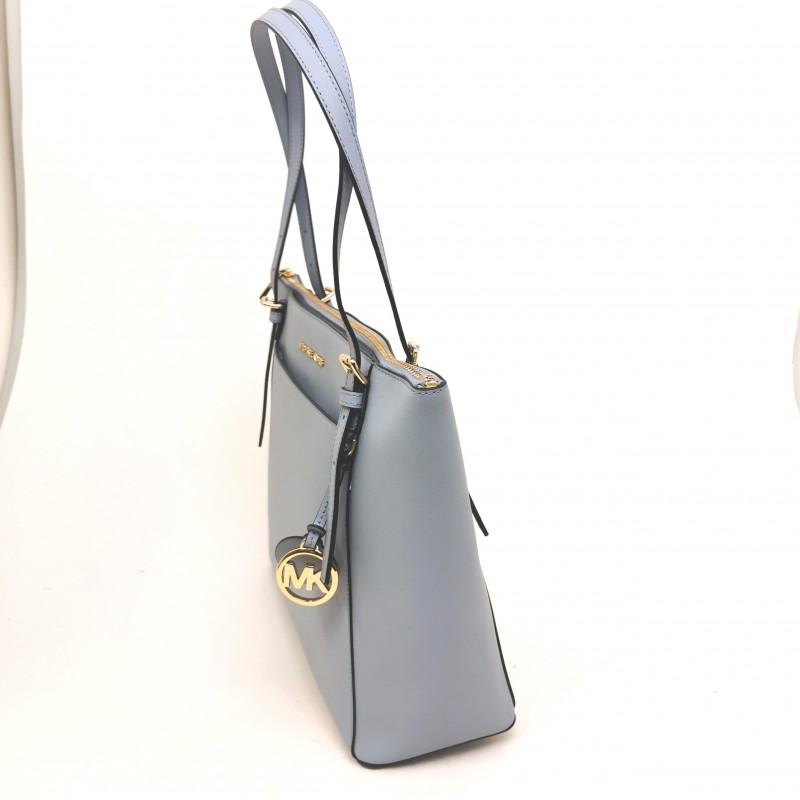 MICHAEL BY MICHAEL KORS - VOYAGER leather Shopping bag - Pale Blue