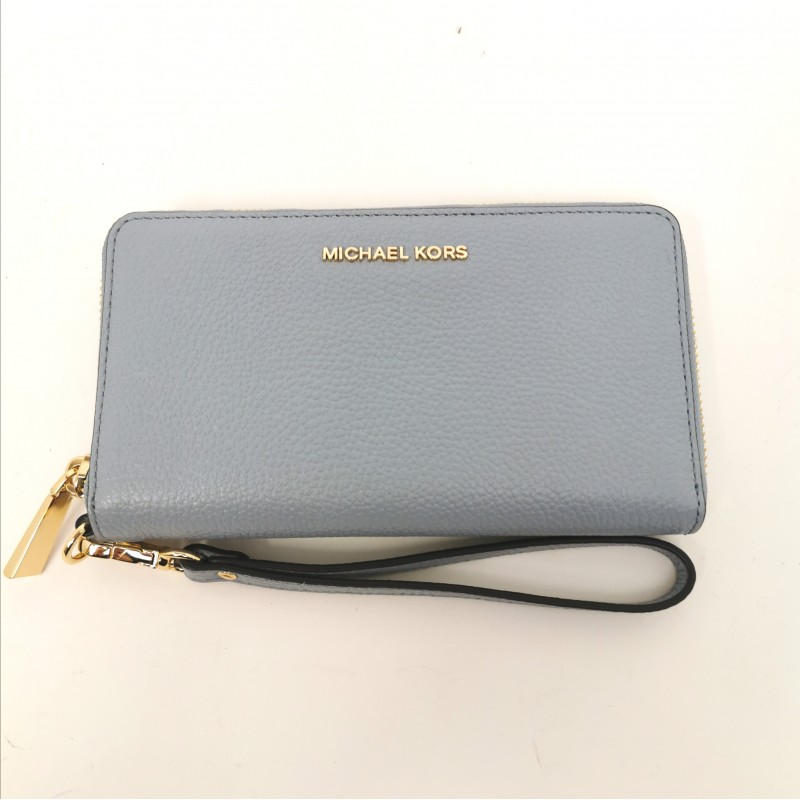 MICHAEL BY MICHAEL KORS - Borsa da polso in pelle - Pale Blue