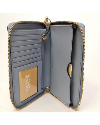 MICHAEL BY MICHAEL KORS - Leather wrist bag - Pale Blue
