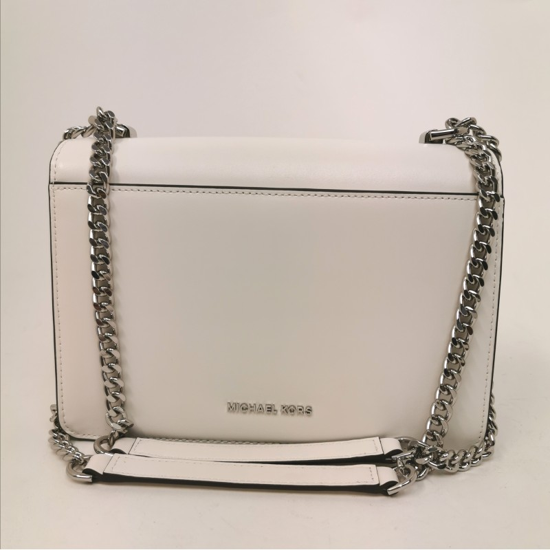 MICHAEL by MICHAEL KORS - JADE Shoulder Bag with Chain - White