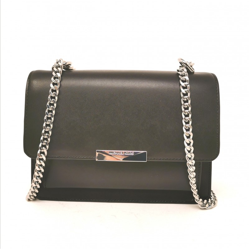 MICHAEL by MICHAEL KORS - JADE Shoulder Bag with Chain - Black