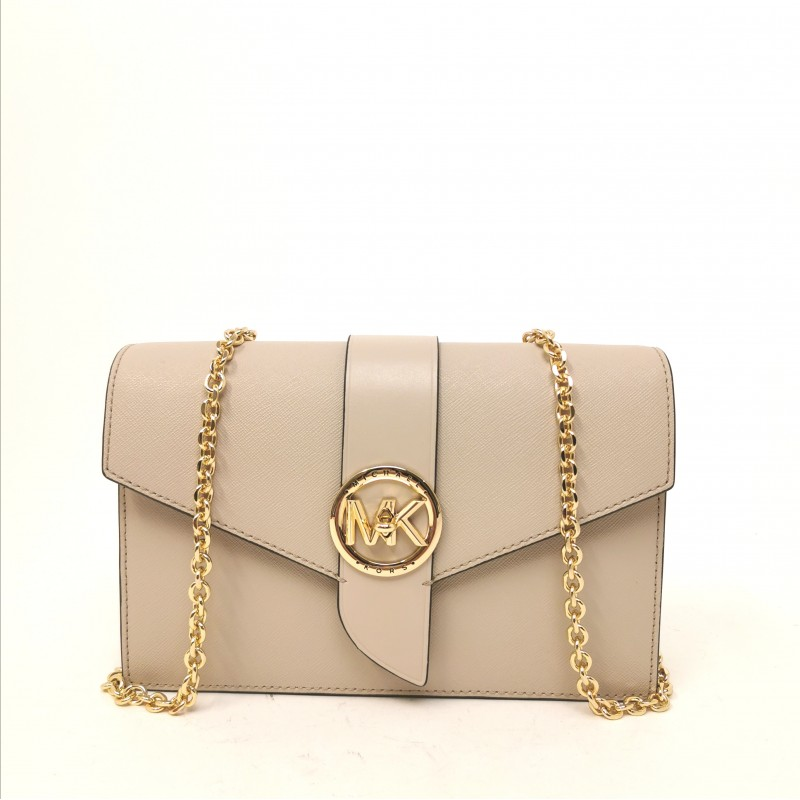 MICHAEL by MICHAEL KORS - Borsa a Spalla WALLET CHAIN - Light Sand