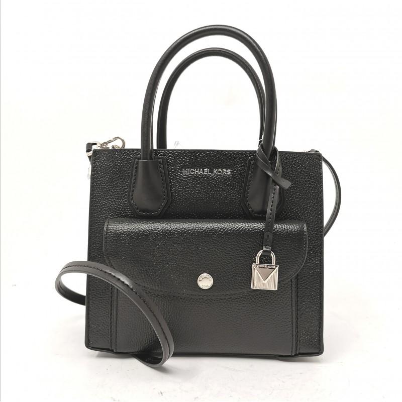 MICHAEL BY MICHAEL KORS - MD Pocket hammered leather bag - Black