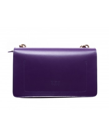 PINKO - Leather Bag LOVE PAISLAY - Dark Purple