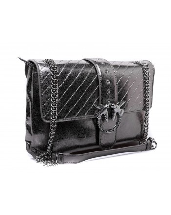 PINKO - BIG LOVE Bag - Gun Metallic