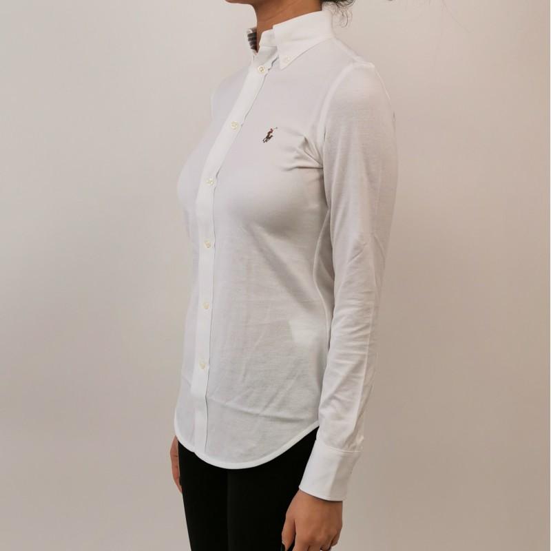 POLO RALPH LAUREN -  Cotton Piquet Shirt - White