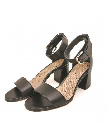 RED VALENTINO - Polished leather sandal - Black