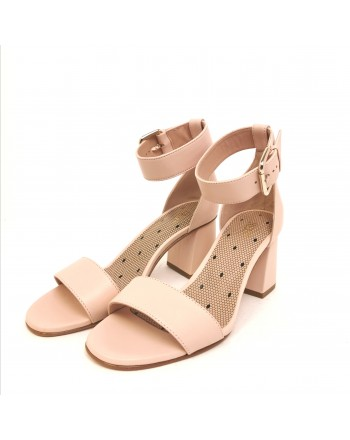 RED VALENTINO - Polished leather sandal - Nude