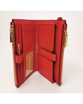 MICHAEL BY MICHAEL KORS - Leather wallet with wirstlet - Bright Red