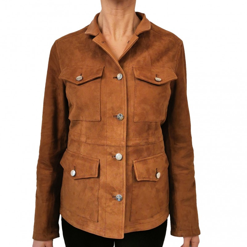 FAY - Saharan leather jacket - Light leather