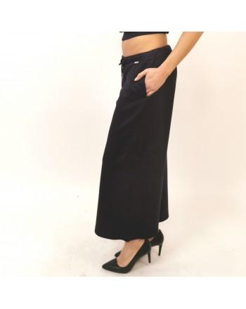 FAY -  Pantalone Cropped con Laccetto - Blu