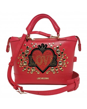 LOVE MOSCHINO - Bag with studs - Red