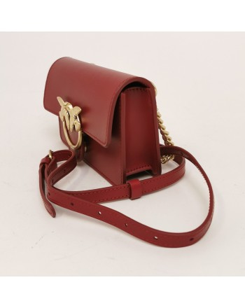PINKO -Baby Love Simply leather bag - Red