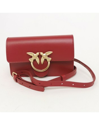 PINKO - Borsa in pelle Baby Love Simply - Rosso