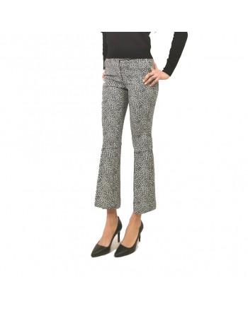 MICHAEL BY MICHAEL KORS - Pantalone elasticizzato stampa maculato - Nero/Bone