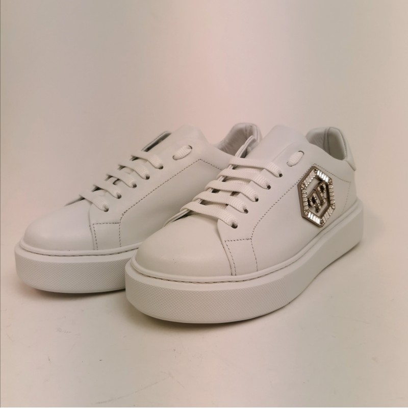 PHILIPP PLEIN - Lo-Top Sneakers in leather - White