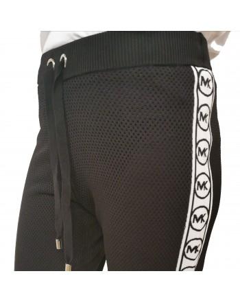 MICHAEL by MICHAEL KORS - Micromesh Logo Band Trousers - Black/White