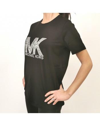 MICHAEL BY MICHAEL KORS -  Sequins logo T-Shirt -Black