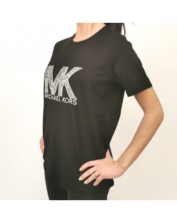 MICHAEL BY MICHAEL KORS - T-Shirt con logo in paillettes - Nero