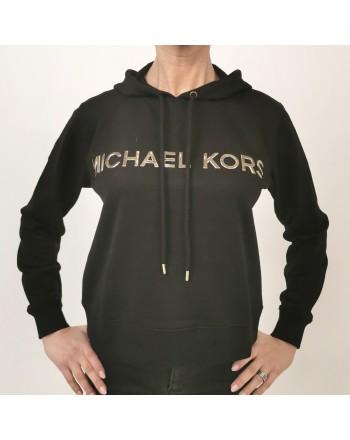 MICHAEL BY MICHAEL KORS - Felpa in cotone con cappuccio - Nero