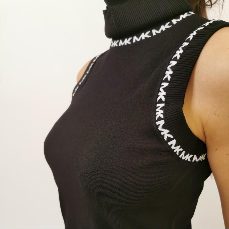 MICHAEL BY MICHAEL KORS - Sleevless turtleneck knit - Black
