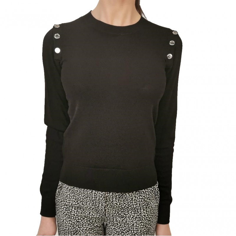 MICHAEL by MICHAEL KORS - Stretch Knit with Buttons- Black