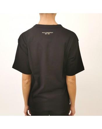 PHILOSOPHY di LORENZO SERAFINI - T-Shirt Logo con paillettes - Nero