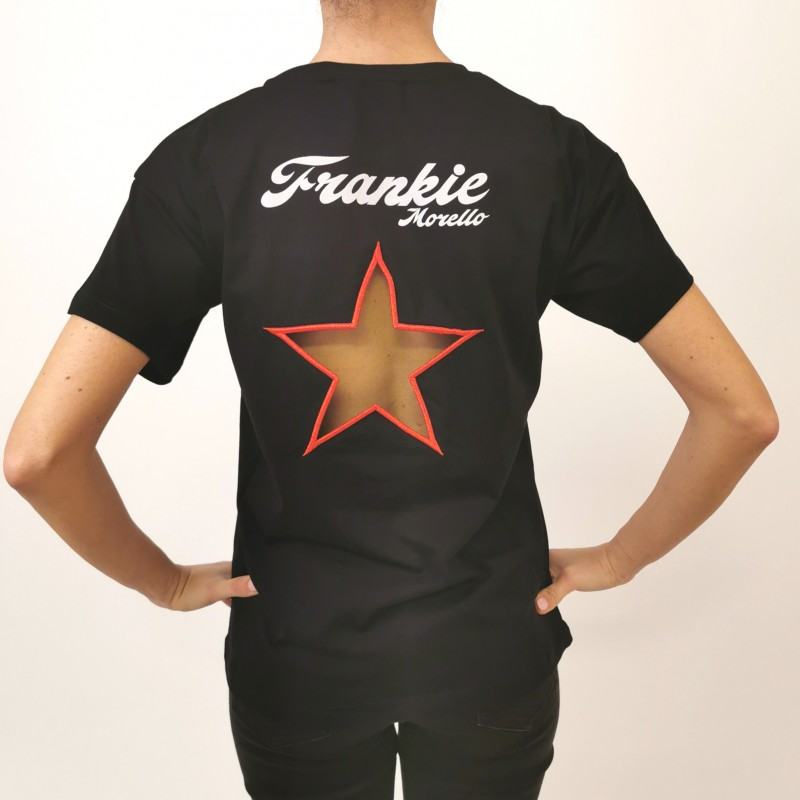 FRANKIE MORELLO - Cotton T-Shirt Bowie Print - Black