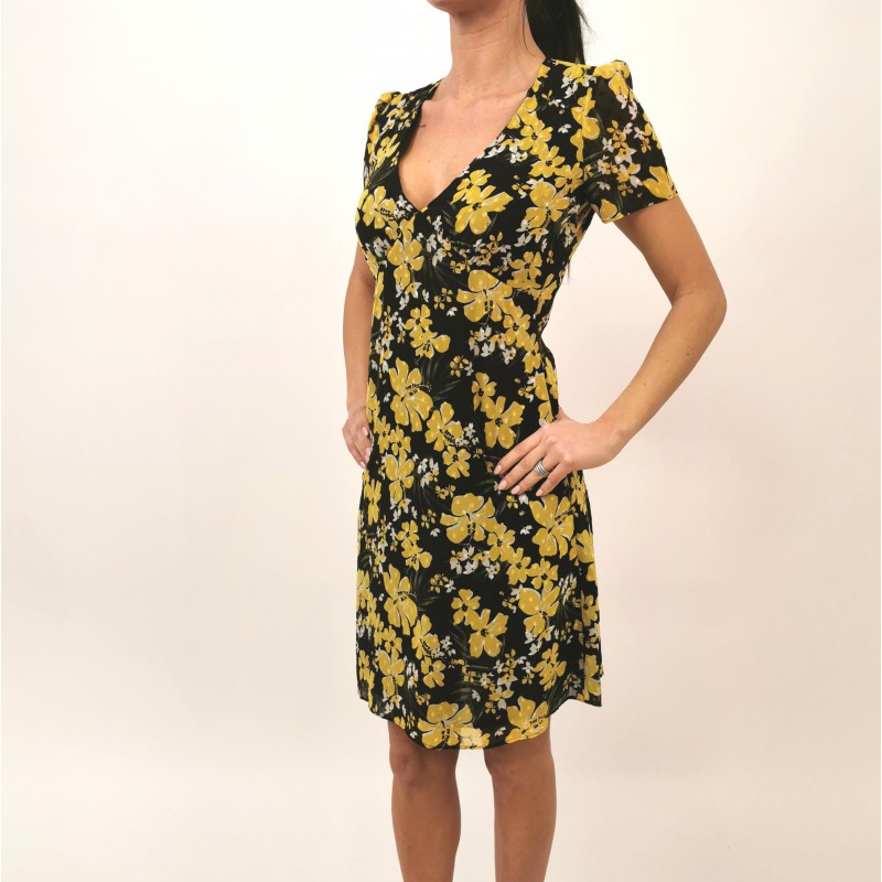MICHAEL BY MICHAEL KORS - Flowers Dress - Black/Dandlon