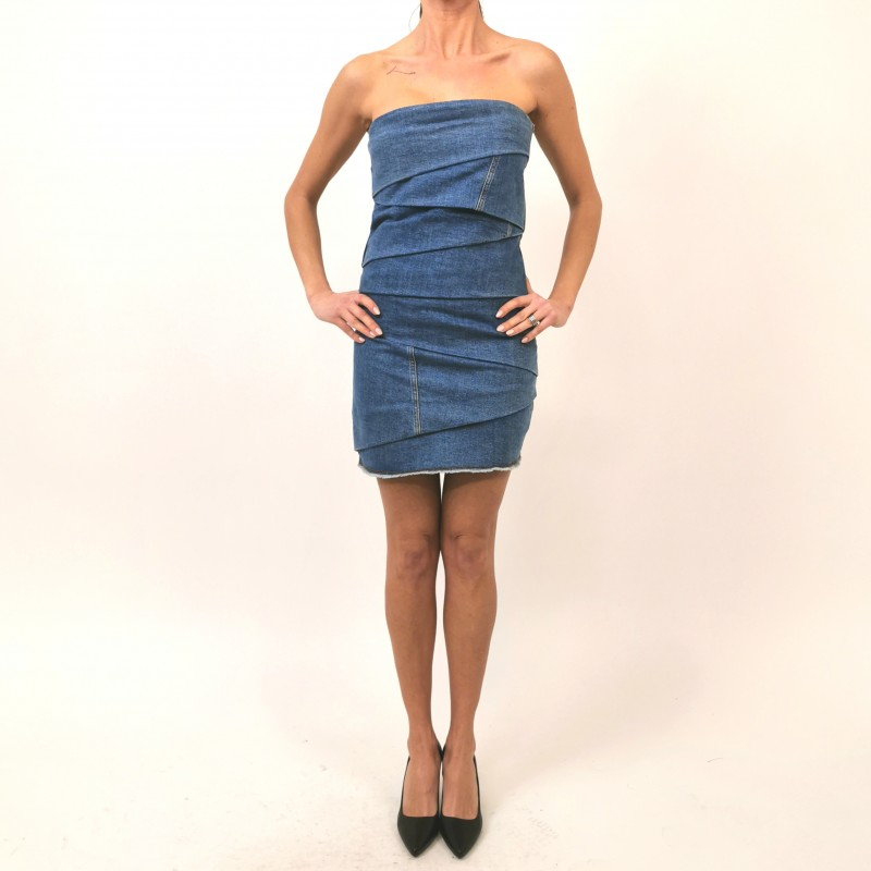 PHILOSOPHY di LORENZO SERAFINI -  Bent Denim Dress - Denim