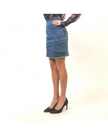 PHILOSOPHY di LORENZO SERAFINI -  Bent Denim Skirt - Denim