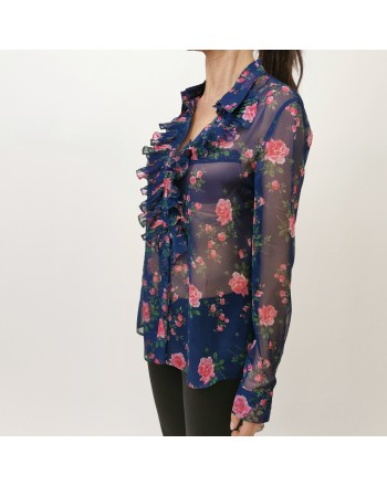 PHILOSOPHY di LORENZO SERAFINI -  FFlowers Printed Shirt  - Multicolor
