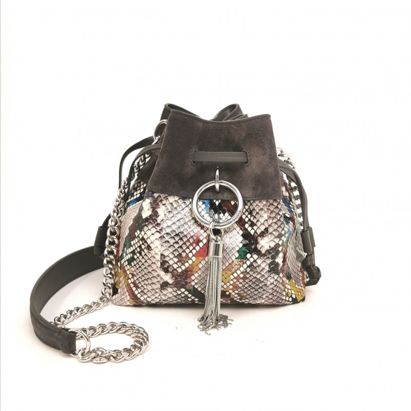 JIMMY CHOO  -  Borsa GLOSSY CALLIE DRAWSTING  - Multimix/Dusk
