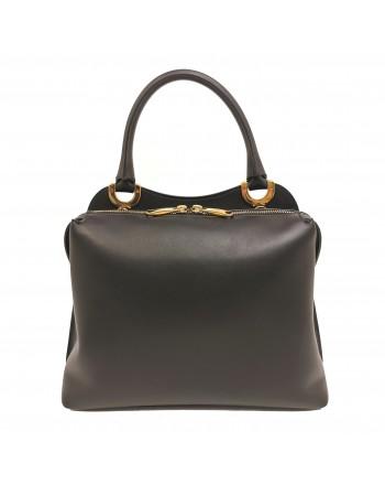 TOD'S Leather Shoulder Bag with Logo Hook - Black