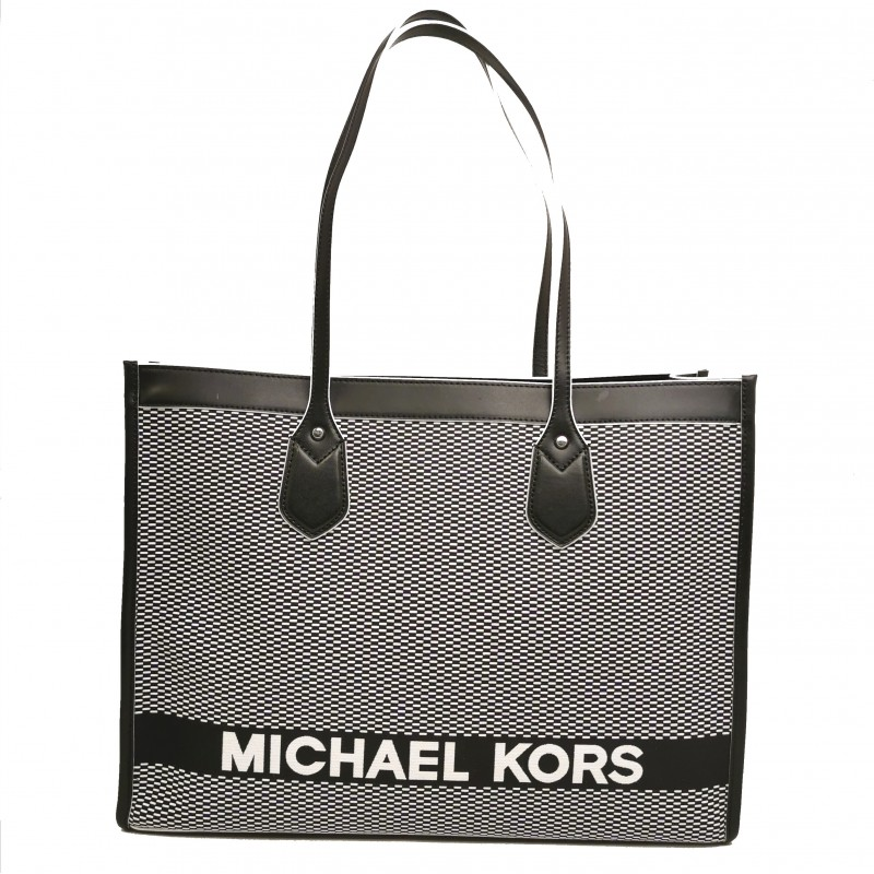 MICHAEL by MICHAEL KORS - LG TOTE Bag - Black/White