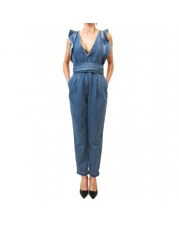 PHILOSOPHY di LORENZO SERAFINI -  Frills Denim Jumpsuit - Denim