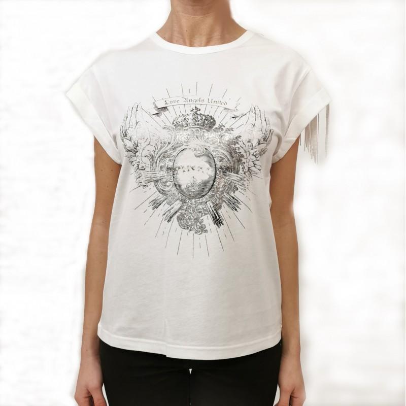 PINKO - T-Shirt in Cotone CANTUCCI - Bianco