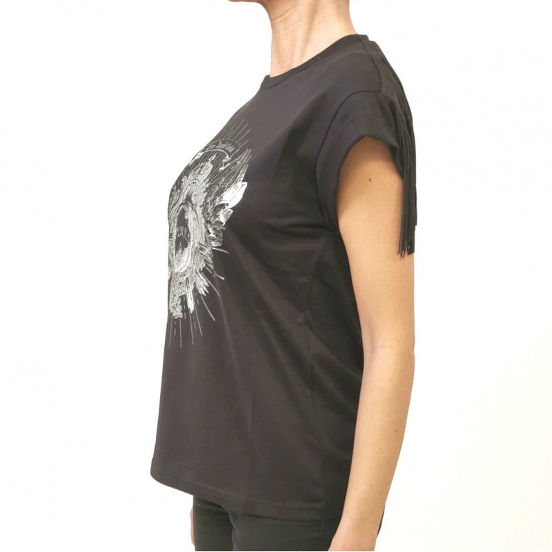 PINKO - T-Shirt in Cotone CANTUCCI - Nero