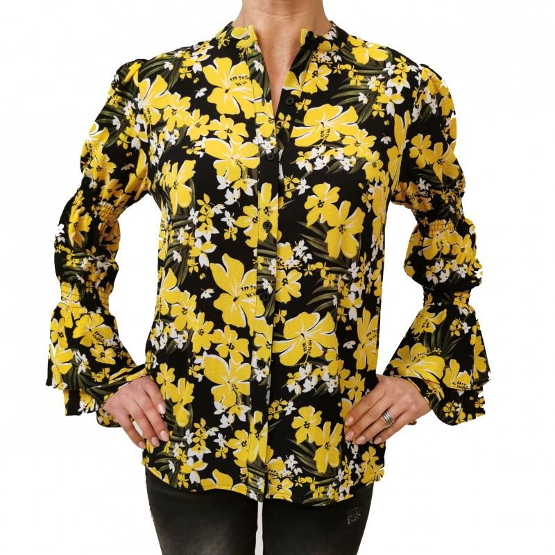 MICHAEL by MICHAEL KORS - Flowers Printed Shirt - Black/Dandlon