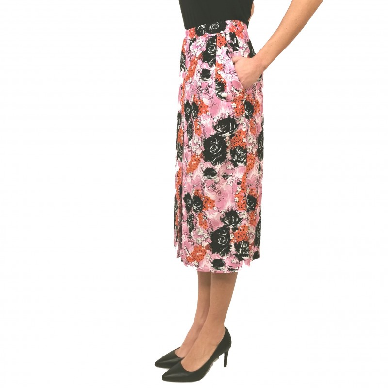 FRANKIE MORELLO - Midi Lenght Bent Skirt - Multicolour