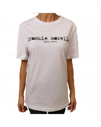 FRANKIE MORELLO - T-Shirt in Cotone con Logo Basic - Bianco