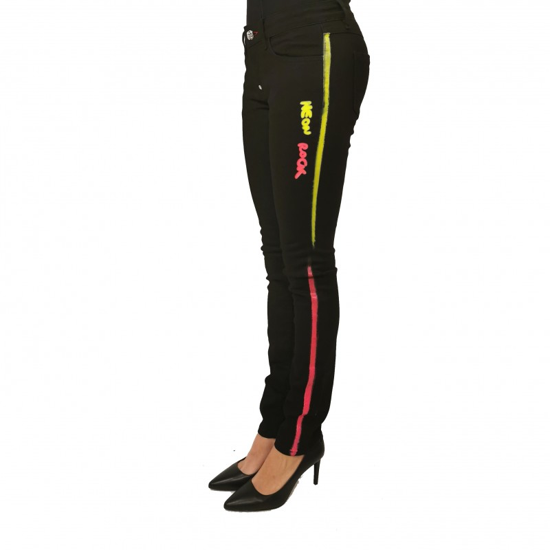 PHILIPP PLEIN - Pantalone con Banda Logo - Eclypse
