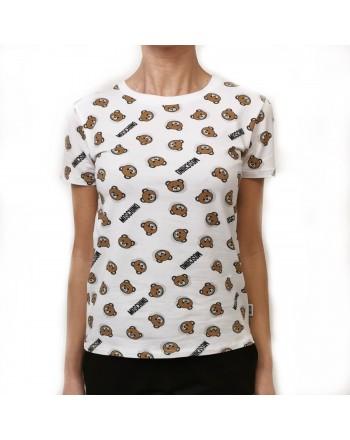 MOSCHINO - T-Shirt in cotone - Bianco