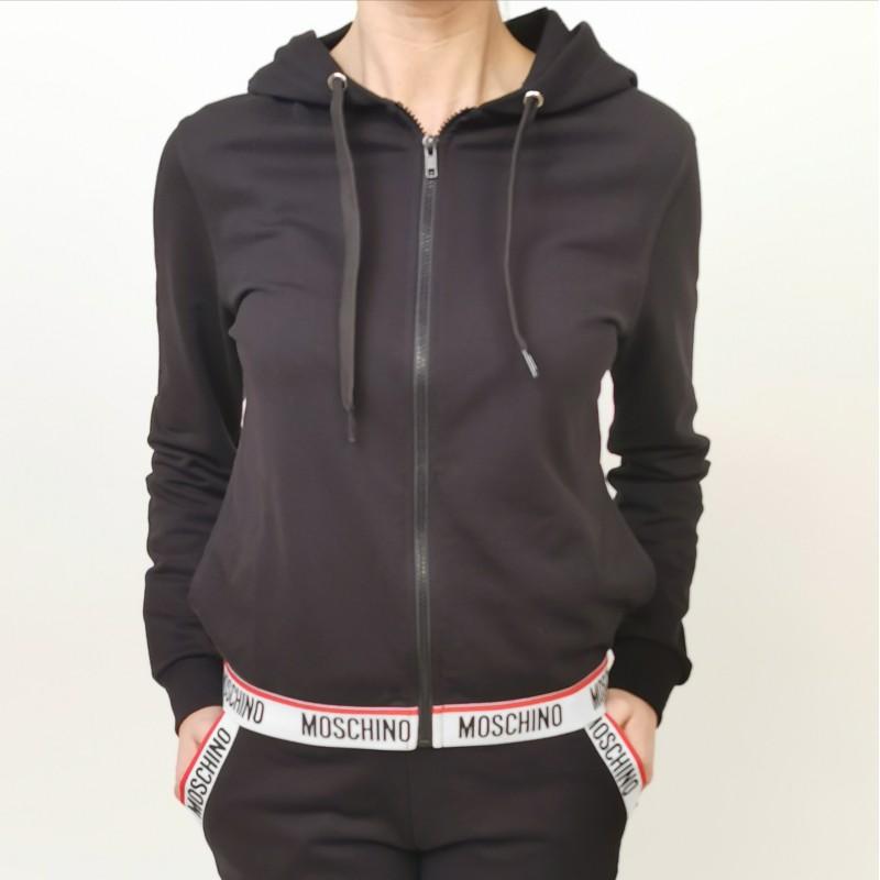 MOSCHINO - Cotton hoodie - Black