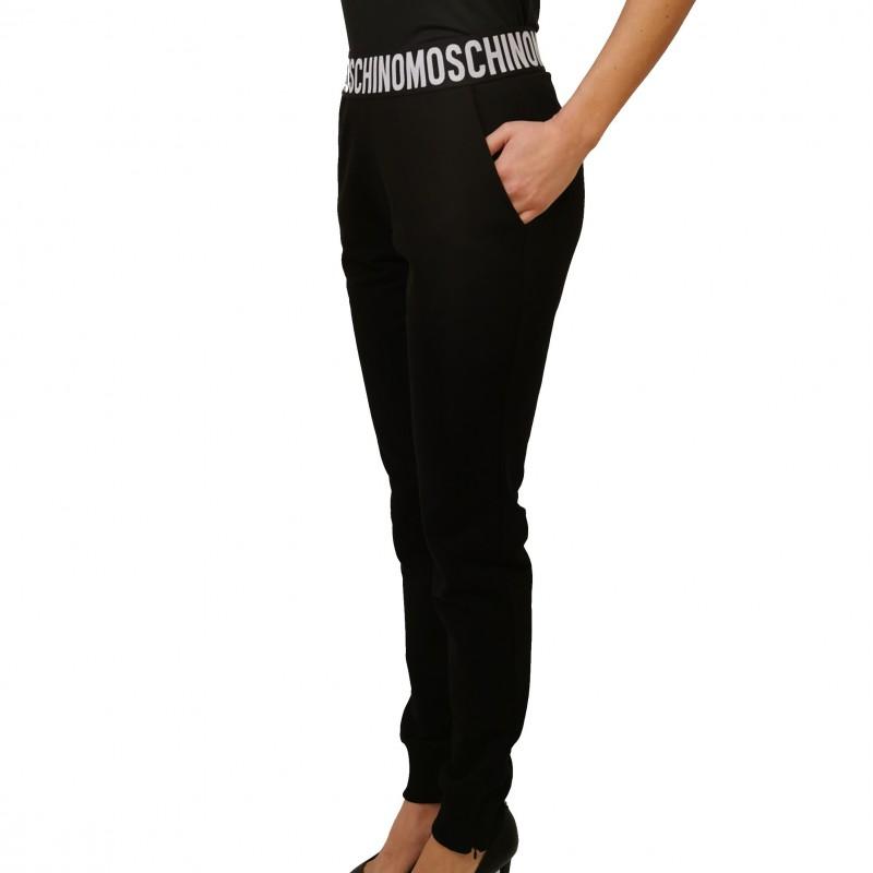MOSCHINO - Pantalone JOGGING elasticizzato - Nero