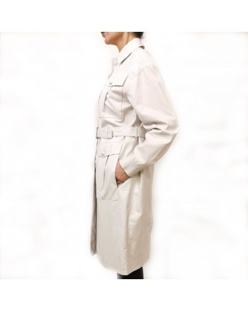 PINKO - Impermeabile DIPLOMATICA in Ecopelle - White