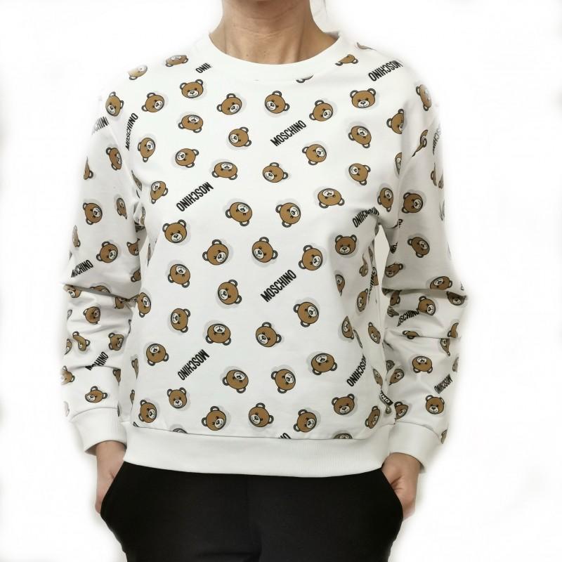 MOSCHINO - Cotton sweatshirt with Logo - White